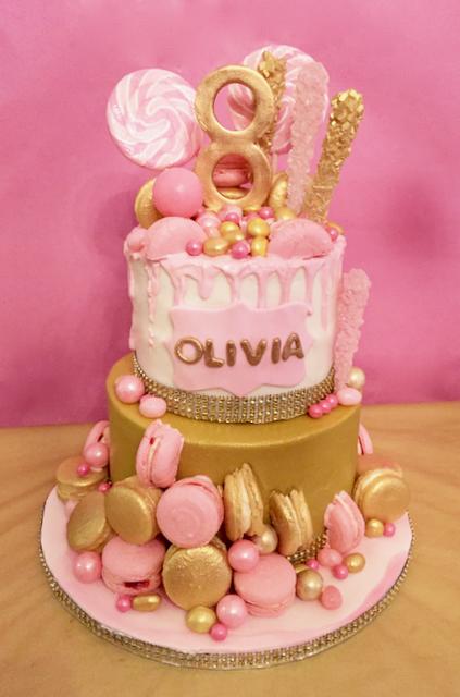 #candydripcake #pinkdripcake