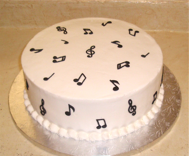 Grooms Musical Notes Cake