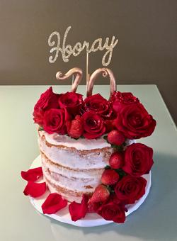 #70thBirthday #rosesandstrawberries