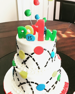 #bouncyballcake #1stbirthday