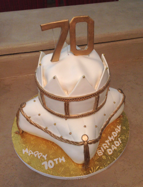 Birhtday 70th pillow with crown white and gold.png