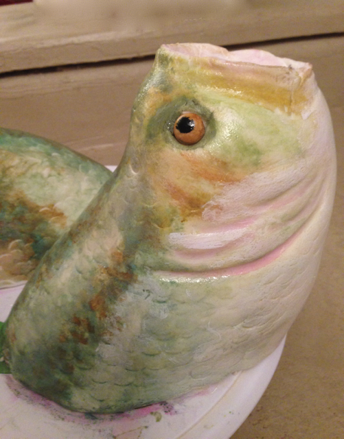 Carved 3-d Bass Fish