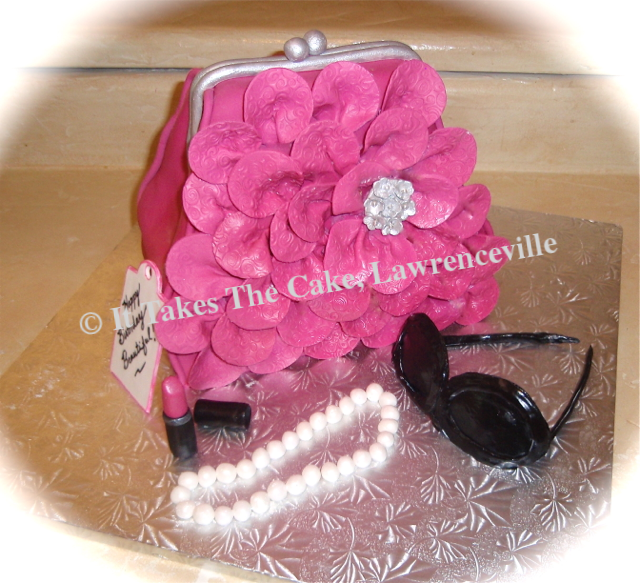 Petal Purse Carved Cake