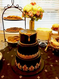 #blackweddingcake #weddingcake