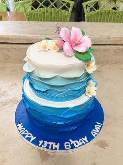 Waves Cake; Hawaiian Cake