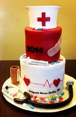 Graduation Nursing cake