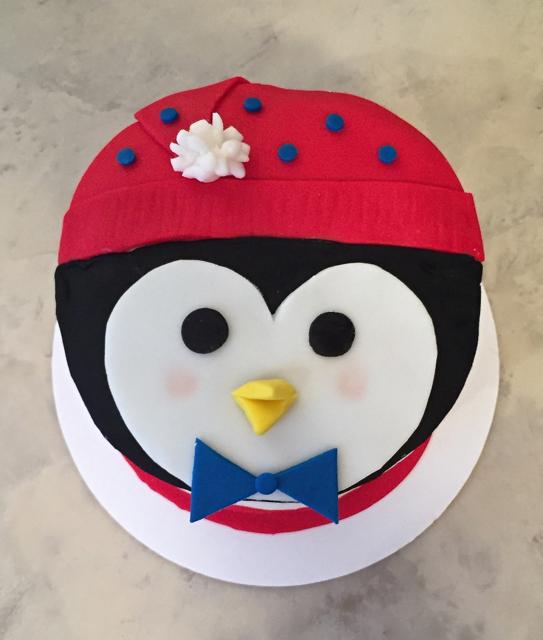 #penguinfacecake