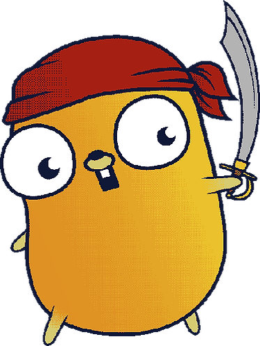 Golang Gopher Pirate