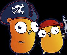 Golang Gopher Pirates