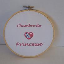 tambourin brodé chambre de princesse les