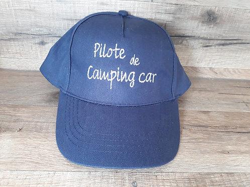 Casquette adulte bleu marine pilote de camping car