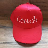 casquette rouge brodée coach les brimbel