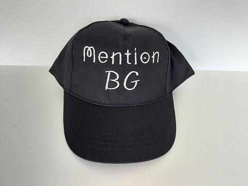Casquette adulte noire Mention BG
