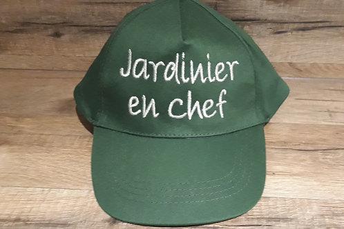 Casquette adulte vert fonçé jardinier en chef