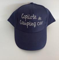 casquette bleu marine brodée copilote de