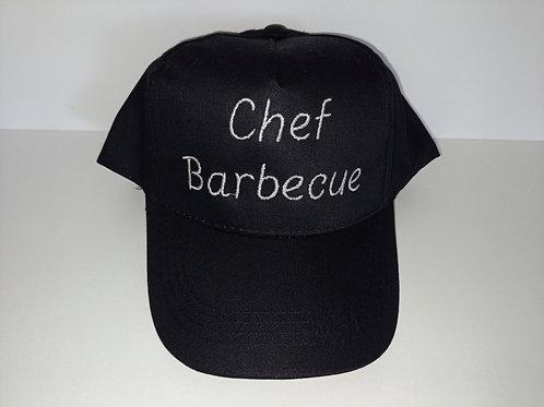 Casquette adulte noire Chef barbecue