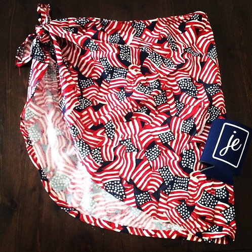 The Sadie Sarong in All American Print