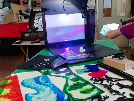Connecting schools and care homes through shadow puppetry