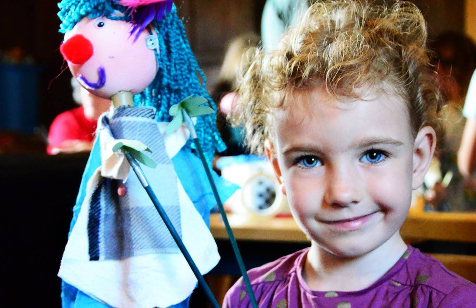 Children's Puppet Making Workshops by SMPC, Photo by Holly Waites