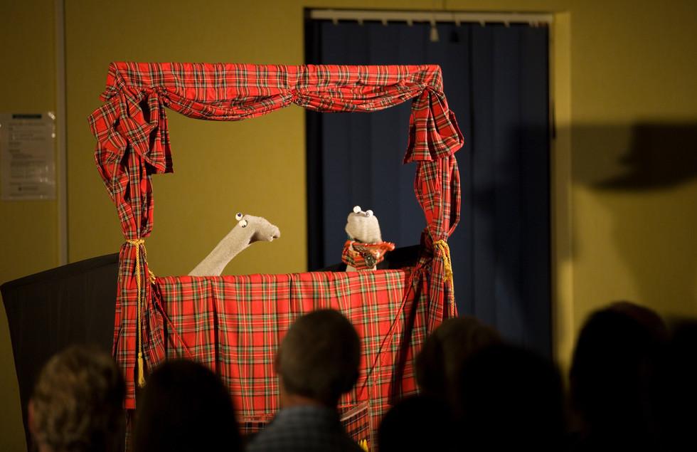 Scottish Falsetto Sock Puppet Theatre, Photo by Gary Morrison