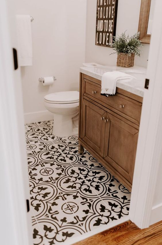 decorative bathroom floor