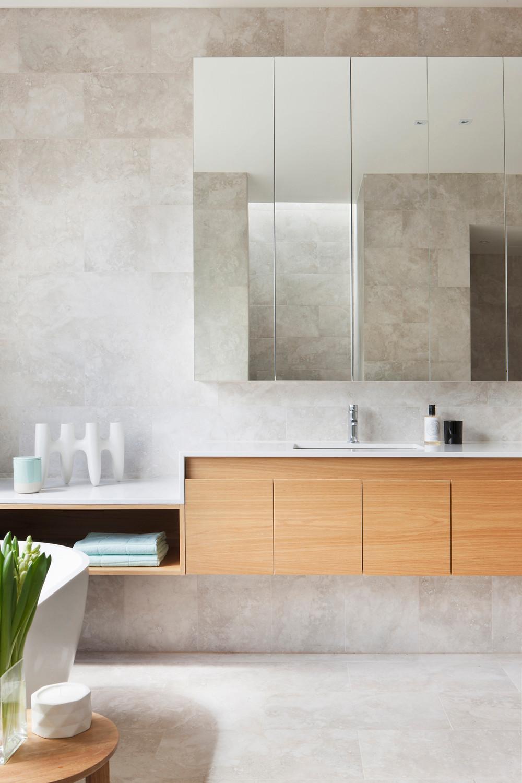 stone look bathroom
