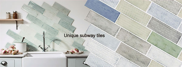Unique subway tiles