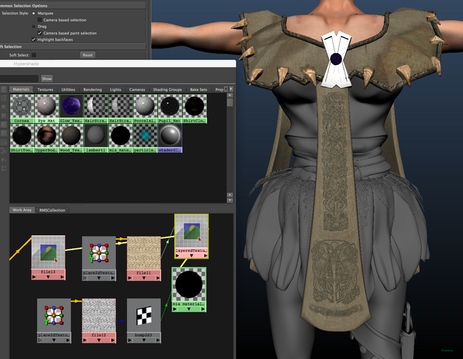 Texturing: Upper Cloth
