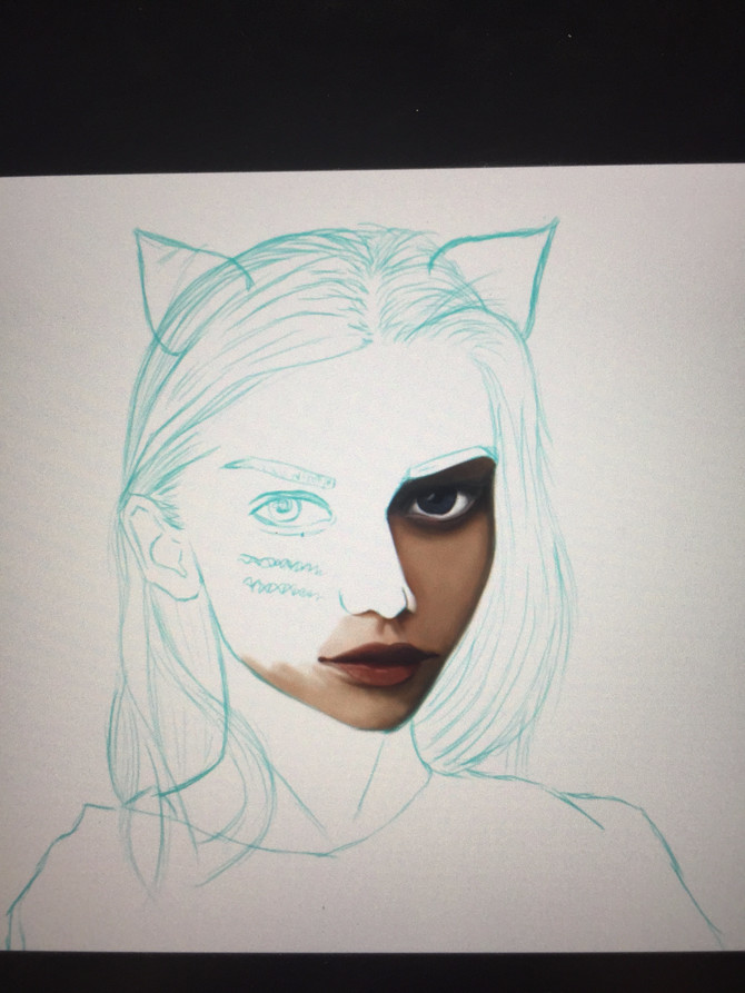 Digital Art: Meow