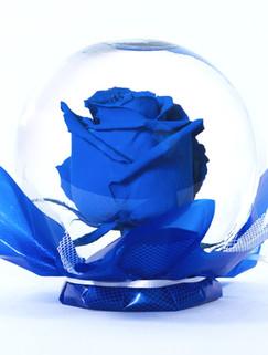 Royal Blue Flower Globe
