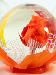 Orange Flower Globe
