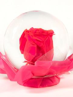Hot Pink Flower Globe