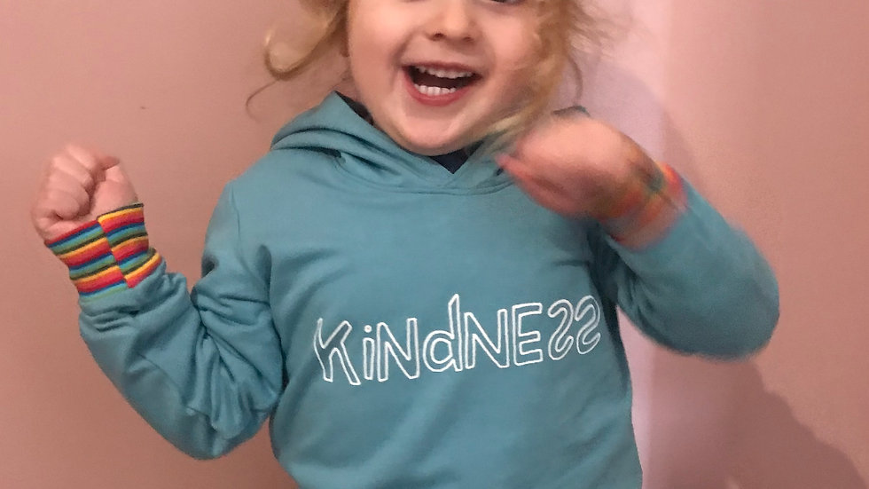 Kindness Hoodie in blue