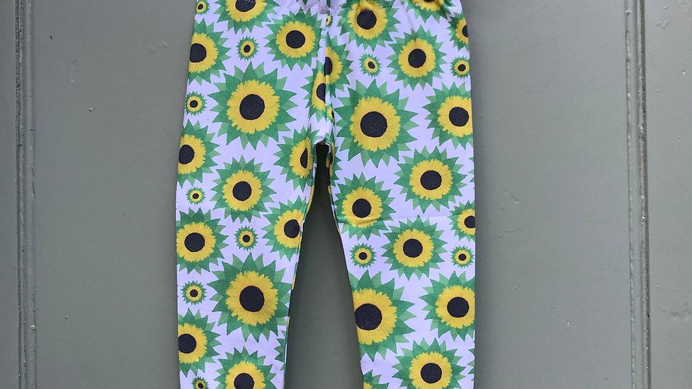 Leggings in Sunflowers .