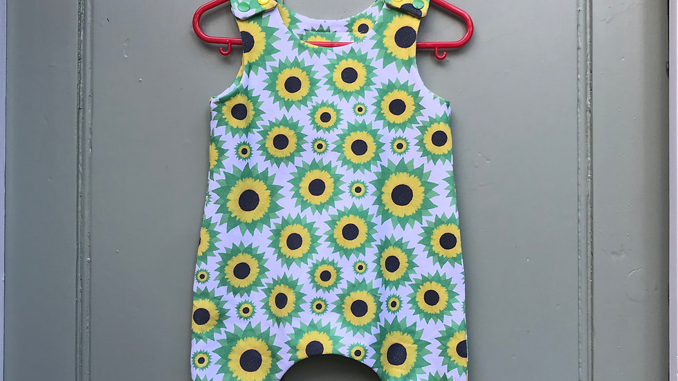 Harem Rompers in Sunflowers .
