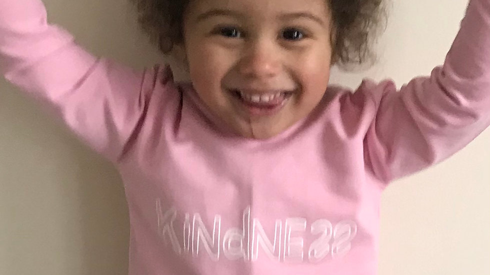 Kindness Hoodie in pink.