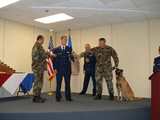 MWD Jacco was asked to tack on SSgt Leon