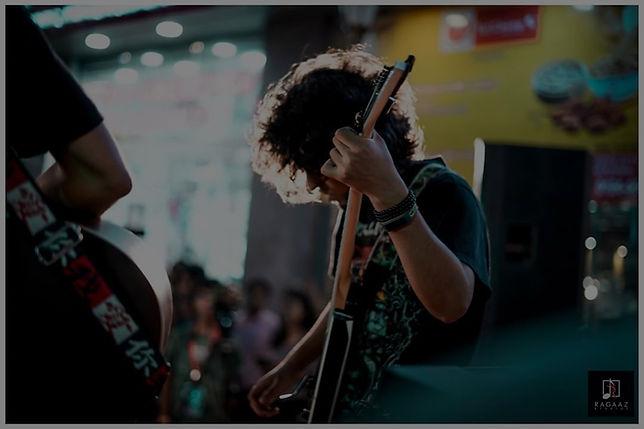 Ryan Philips playing guitar