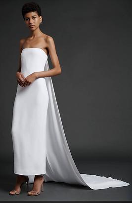 Cushnie Bridal - Strapless Gown with Det