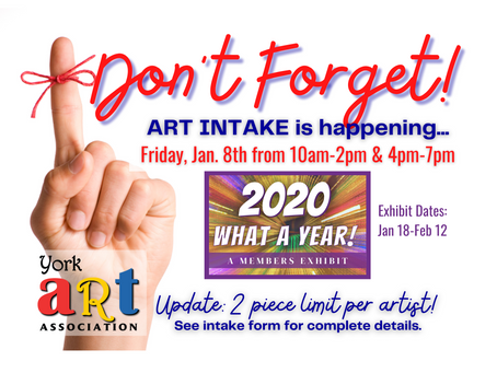 ART Intake is HAPPENING this FRIDAY!