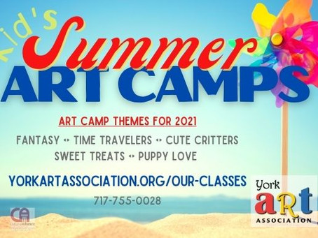 KID'S ART CAMPS are OPEN FOR REGISTRATION!