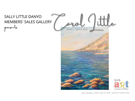 Work by artist, Carol Little currently on exhibit in our Sally Little Danyo Members' Sales Gallery.