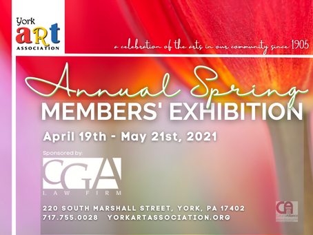 CALL FOR ART! Annual Spring Members' Exhibition Intake happening on APRIL 9th, 2021