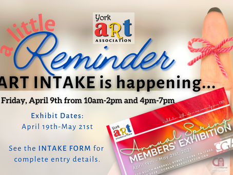 ART INTAKE happens this FRIDAY for the Spring Members Exhibition!