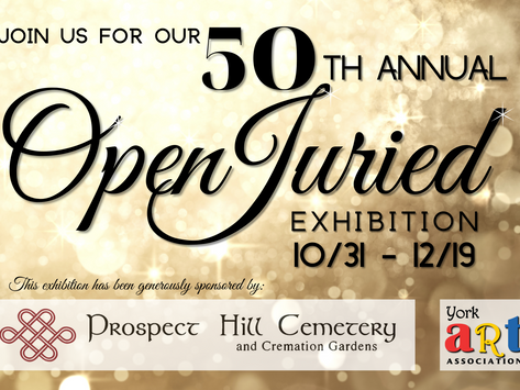 Announcement 50th Annual Open Juried Exhibition