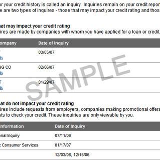 ¿Qué es una indagación de crédito?