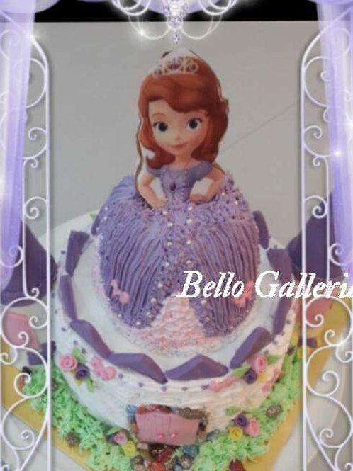 公主系列鮮果忌廉蛋糕 ~蘇菲亞公主+ 城堡