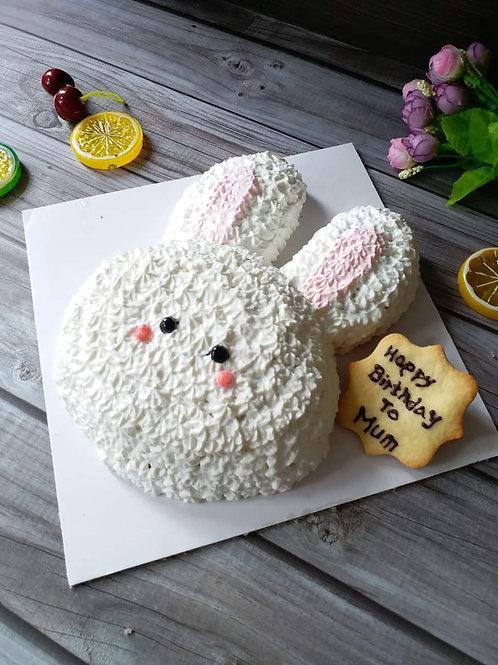 小兔子鮮果忌廉蛋糕