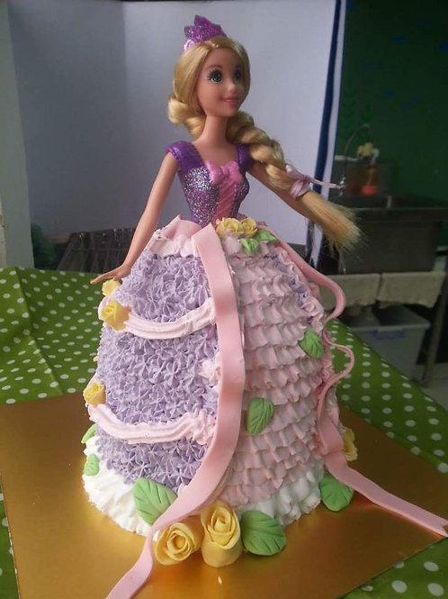 公主系列鮮果忌廉蛋糕  ~ 長髮公主