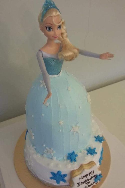 公主系列鮮果忌廉蛋糕 ~ 愛莎公主